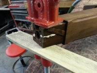This is the Chickering's leg getting glued together after previous damage