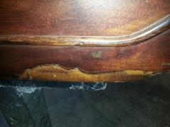 Some missing veneer