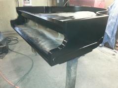 Front corner molding and veneer repaired