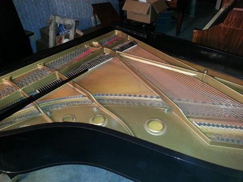 Baldwin L Grand restoration plate Beavers Piano Restoration